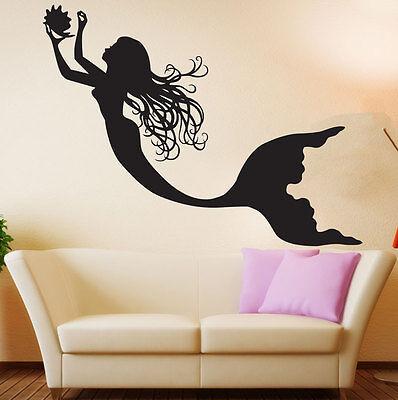 Vinyl Wall Decal Mermaid Nursery Girls Room Under The Sea Ocean Sticker Decor - Under The Sea Room Decorations