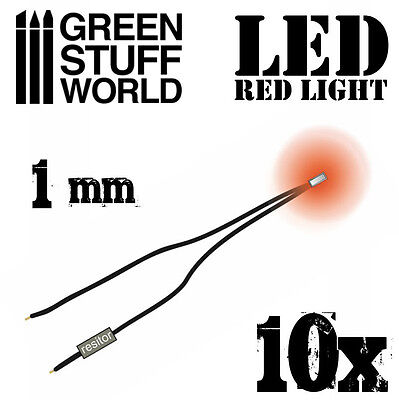 Micro Miniature Led (RED micro LED Lights - 1mm - Scenery Miniature lighting train infinity tiny )