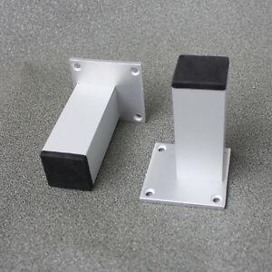 4 Pcs Metal Legs Feet Square Aluminum Furniture Table Cabinet 4 034 Ebay