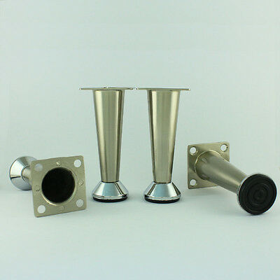 Metal Table Legs Furniture Cabinet Stand Stainless Steel Feet 4