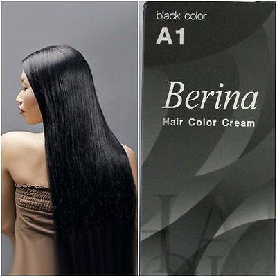 Best Of A1 Permanent Hair Dye Color Colour Cream A1 Black COLOR Unisex