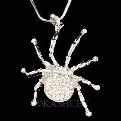 Black Widow Spinne Tarantula mit Swarovski Kristall Halloween Halskette Neu (Black Widow Halskette)