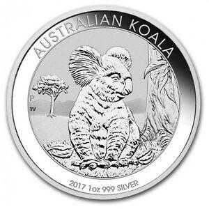 Silbermuenze-Australian-Koala-2017-1-Unze-999-Silber-silver-coin-1Oz-Oz-NEU