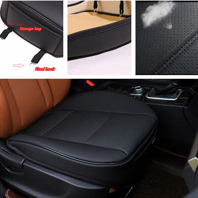 BLACK Leather Car Front Seat Cushion Pad Protector Mat Cover Sedan Driver Volvo S40 Car Driver