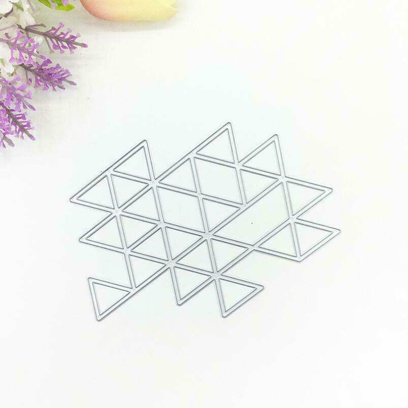 Triangle Background Puzzle Metal Cutting Dies Stencil Scrapbooking Decorative