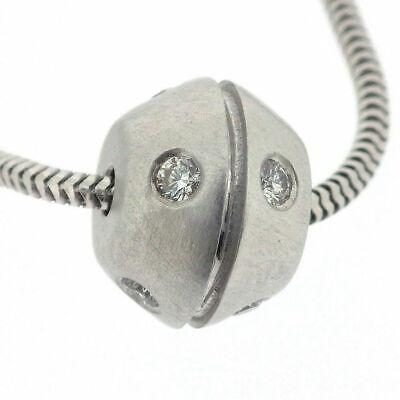 TIFFANY Co. 18K White Gold Diamond Streamerica Pendant Necklace - $750.00