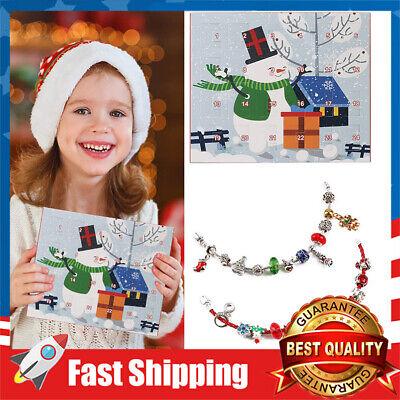 Christmas Advent Calendar for Kids DIY Jewelry Charm Bracelet Necklace Children