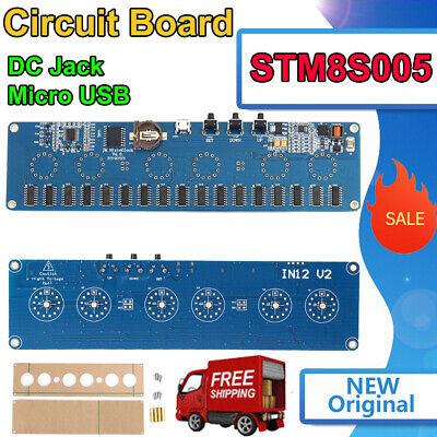 Stm8s005 Dc 12v 1a Electronic In14 Nixie Tube Led Control Circuit Board Pcba Rgb