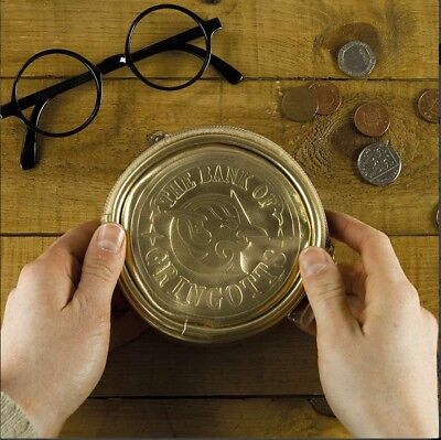 Harry Potter Bank of Gringotts Gold Toned Coin Purse NEW UNUSED (Harry Potter Purses)