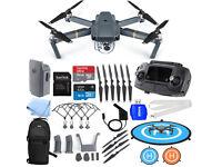 DJI Mavic Pro 4K Quadcopter + Spare battery + Loads of Accessories