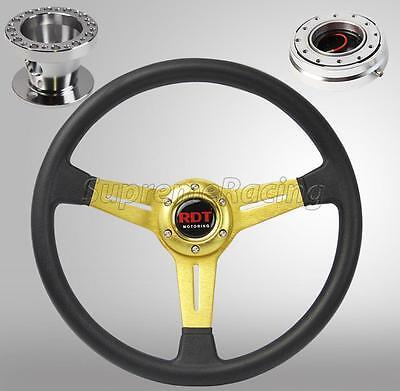 Gold Steering Wheel Hub Quick Release Chrome Combo Kit For Honda Civic 96-00 EK 00 Quick Release Kit