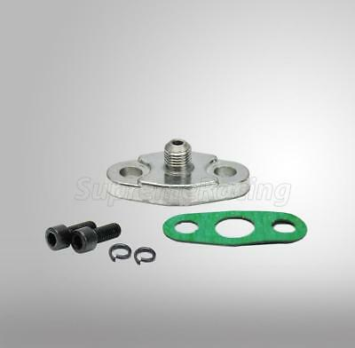 Turbo Charger Oil Feed 4AN Inlet Flange T3 T4 T04 T03 4 AN Ristrictor Adapter for sale  Rowland Heights