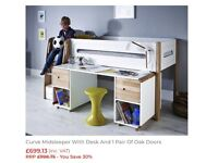 RRP £700!! New Stompa radius curve midsleeper bed and pull out desk new!! RRP £700!!!