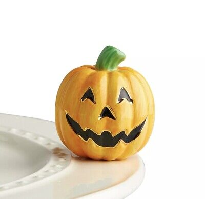 A216 Nora Fleming Jack-O-Lantern Carved Cutie Pumpkin Mini FREE SHIPPING