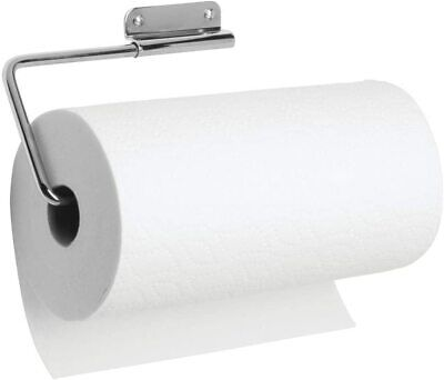 iDesign Kitchen Roll Holder Wall Mounted, Practical Metal Paper Towel Holder