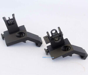 Hunting-AR-Front-Rear-Flip-up-45-Degree-Rapid-Transition-Backup-Iron-Sight-N15