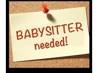 Need a babysitter for weekend
