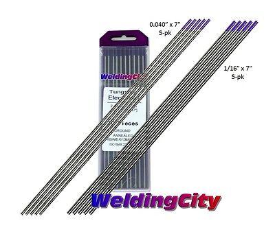 10-pk Tig Welding Tungsten Tri-element Non-radioactive Purple 040-116 Us Seller
