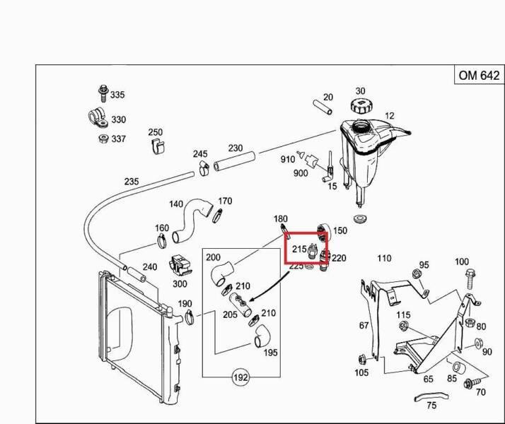 Mercedes Om602 Om642 Thermo Switch Radiator Fan 007 545 10 24