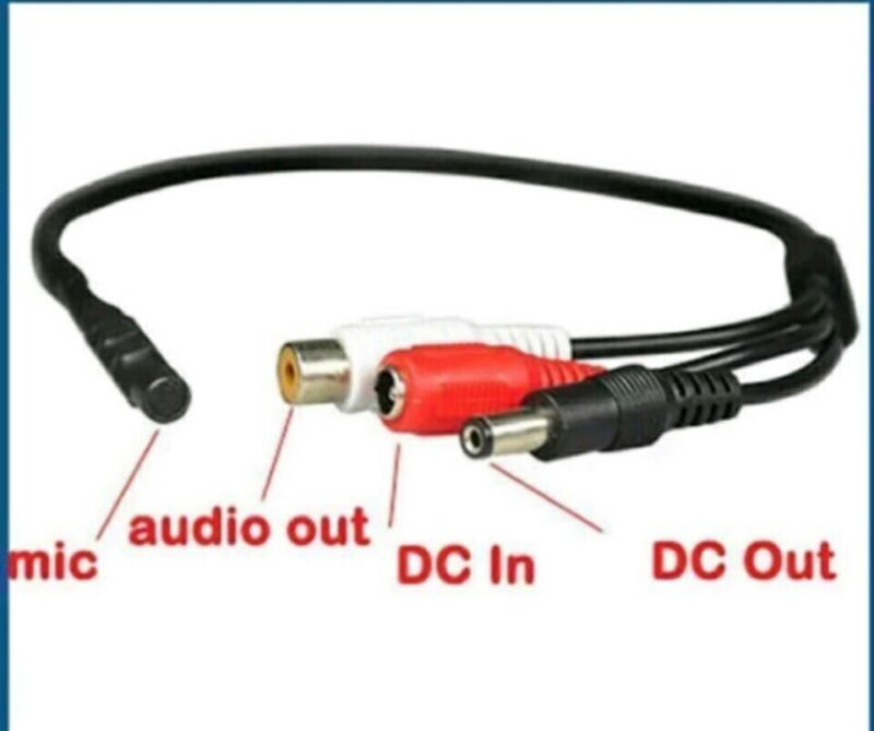 NEW MIC AUDIO MICROPHONE FOR SECURITY CCTV SPY CAM CAMERA HIDDEN WITH POWER