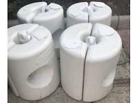 4 x Gazebo leg weight set,weights that guarantee the maximum stability for your gazebo.