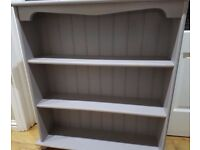 💙solid wood heavy display unit with lights - bookcase