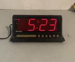 "VTG Westclox Large Red Digital Display Alarm Clock Mdl 22704 3.25"" tall AC Power"