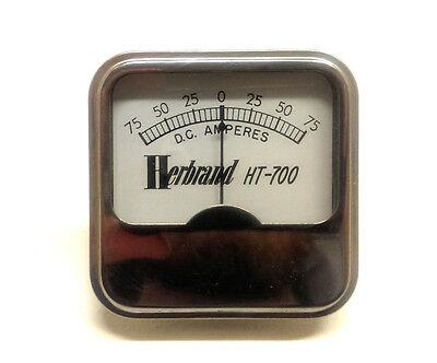 Vintage Herbrand Ht-700 Metal Dc Amperes Battery Tester Gauge Rare New