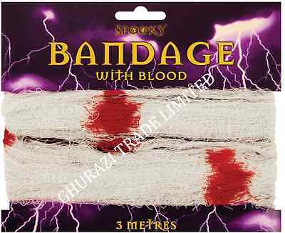Halloween Bandage with Blood Spooky Zombie Horror Fancy Dress Costume - Halloween Bandage Costume
