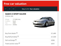 SAAB 9-3 2.0t ARC (173 bhp). *** £865 limited time offer*** (Private Sale Value is £1320)