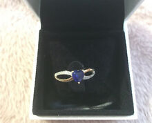 Gold sapphire ring 9ct Dawesville Mandurah Area Preview