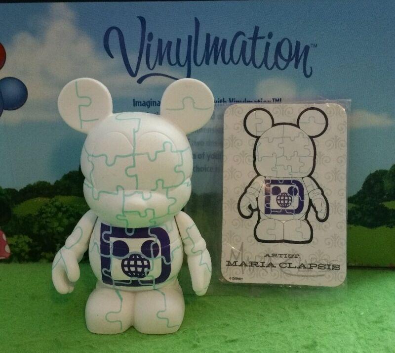 "DISNEY Vinylmation 3"" Park Set 3 Urban Jigsaw Puzzle Mickey Mouse with Card"
