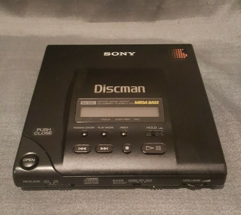 Vtg Working Sony Discman D-303 May 1991 Personal CD Player HTF Compact Disc