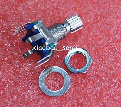 10pcs Ec11 Rotary Encoder Switch Audio Digital Potentiometer 15mm Knurled Shaft