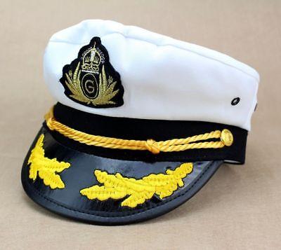 Unisex Luxury Captain Hat Marine Sailer Fancy Dress Cap Dress Accessory New](Sailer Cap)