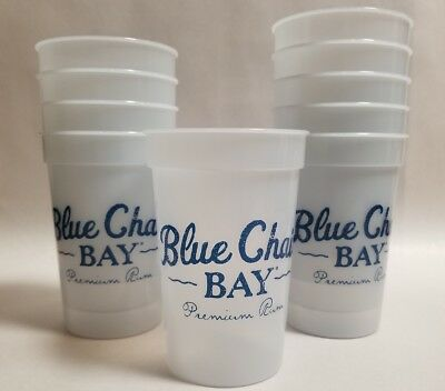 Blue Chair Bay Rum Plastic Color Changing Cups (10 Count) Kenny Chesny NEW (Plastic Color Changing Cups)