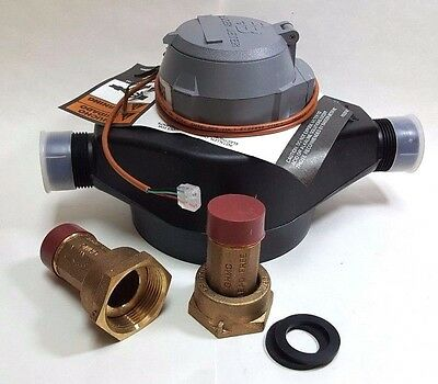 Badger 1 Plastic Water Meter Cuft Hre Encoder Output Register With Couplings