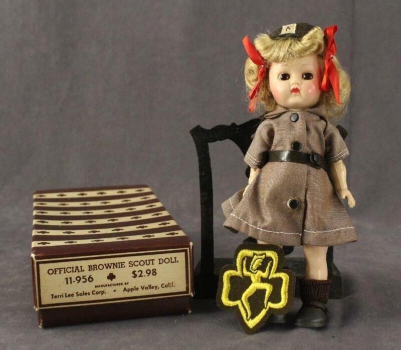 Vintage Official Brownie Girl Scout Doll Terri Lee 11-956 Complete Original Box