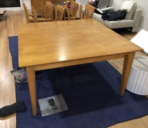 Square Timber Dining Table And 8 Chairs Dining Tables Gumtree