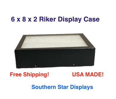 6 x 8 x 2 Riker Display Case Box for Collectibles Jewelry Ar