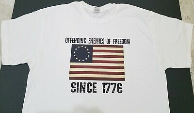 Brand New BETSY ROSS FLAG T-SHIRT American Patriotic AMERICA USA Freedom Country