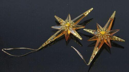 "Vintage plastic Christmas tree decorations  two star 5,5"""