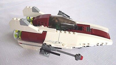 Lego A-wing Fighter Star Wars 6207 100% Complete with 2 Minifigs No Instructions
