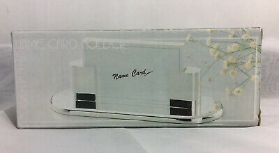 Desk Top Silver Plated Business Card Holder - Nib