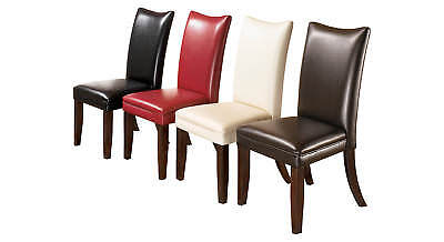 Set of 2 Medium Brown Dining Upholstered Side Chairs by Ashl