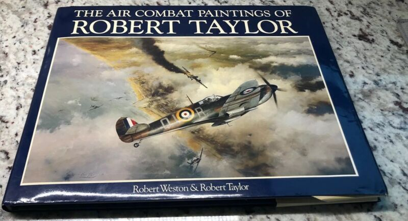 Air Combat Paintings of Robert Taylor Vol I-II WWII Aviation Fighters HC/DJ VG++