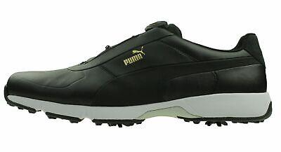 Puma Ignite Drive Disco Talla 47 UK 12 Golf Zapatos 189892 01 Negro Impermeable
