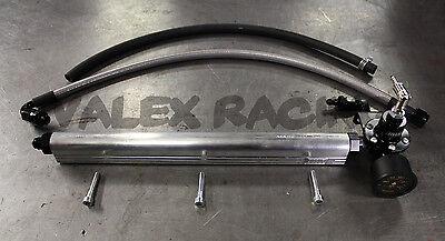 B Series Fuel System Silver Blackworks BWR Rail and Black Regulator Honda Acura