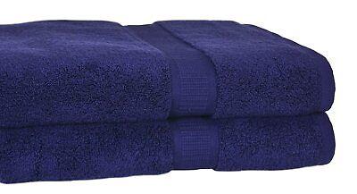 Set of 4 -Homestead Pima Cotton 34″ x 68″ Oversize Bath Towels - Midnight Blue
