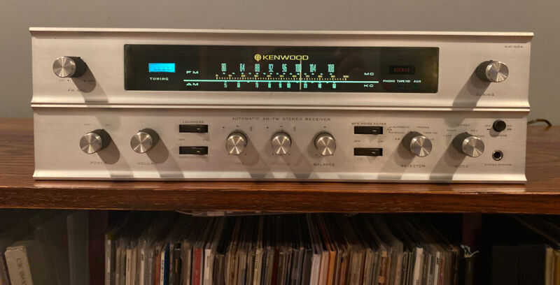 Kenwood KW-55A Tube Stereo Works Great Beautiful Cosmetics Serviced RARE